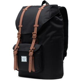 Herschel Little America Mid-Volume Backpack 17L, black/saddle brown/rubber